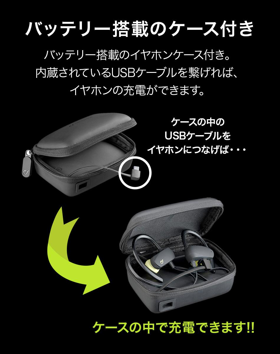 バッテリー搭載のケース付き