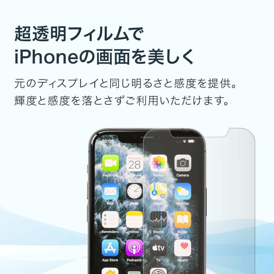超透明フィルムでiPhoneの画面を美しく