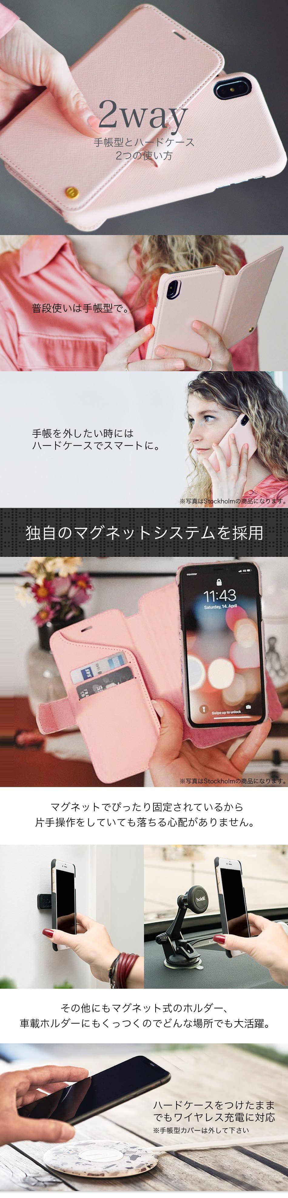 iPhone ケース 手帳型 大人女子 大人可愛い ブランド 北欧  holdit2