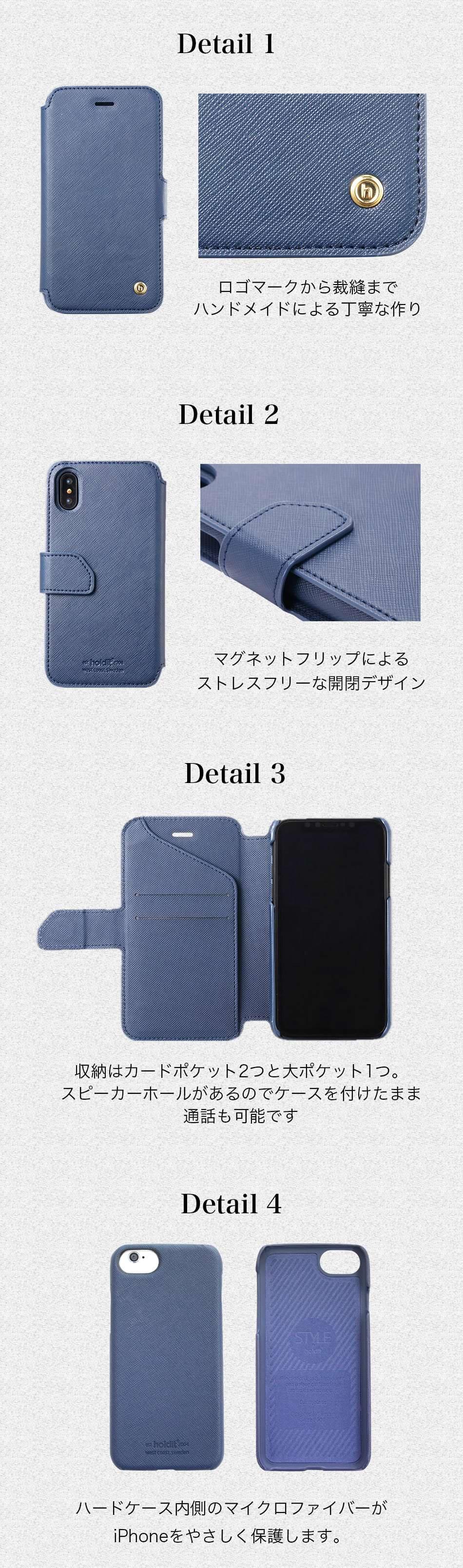 手帳型カバーをつけても外しても使用できる、マグネット脱着式の2wayモデル。